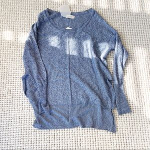 Altar'd State blue and white Marled dolman sweater